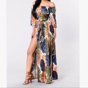 Night Moves Dress- Olive/Navy